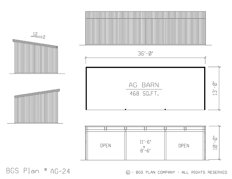 Plan # AG-24 Floor Plan