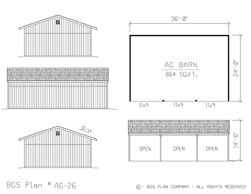 Plan # AG-26 Floor Plan