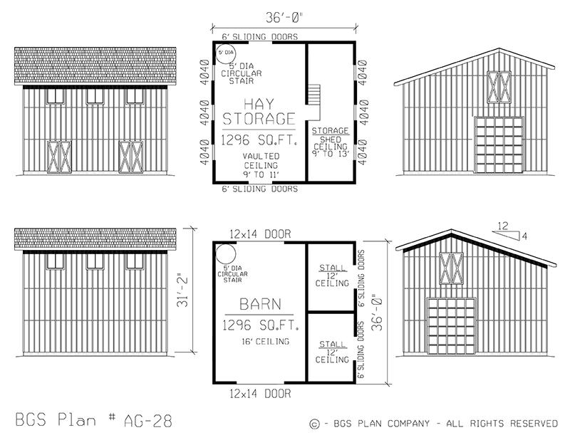 Plan # AG-28 Floor Plan