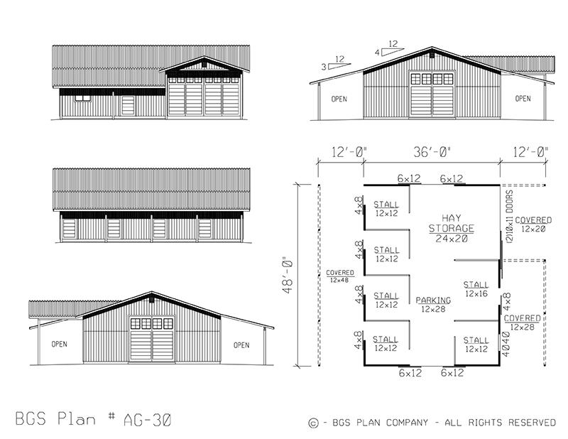 Plan # AG-30 Floor Plan