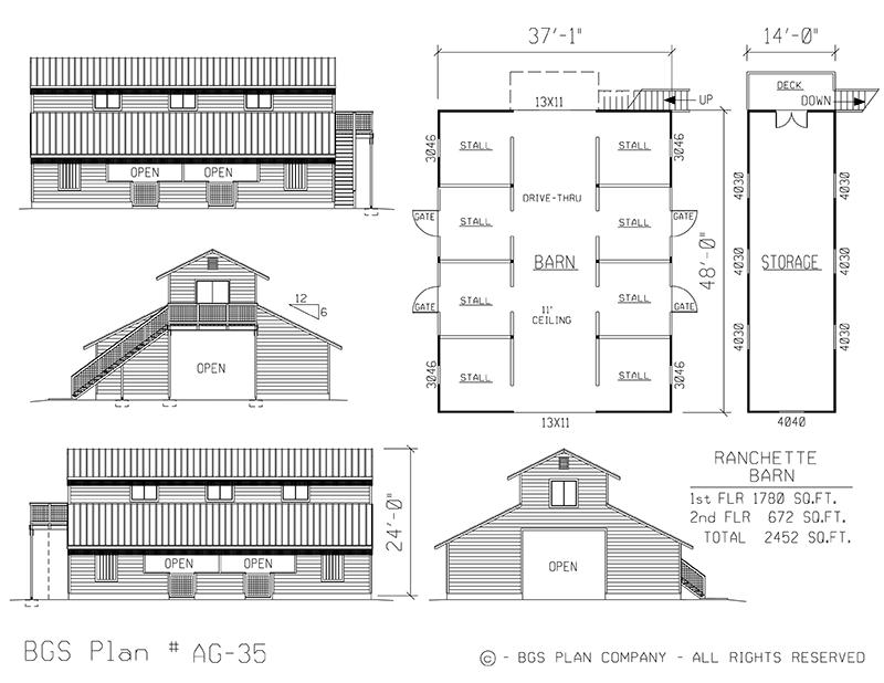 Plan # AG-35 Floor Plan