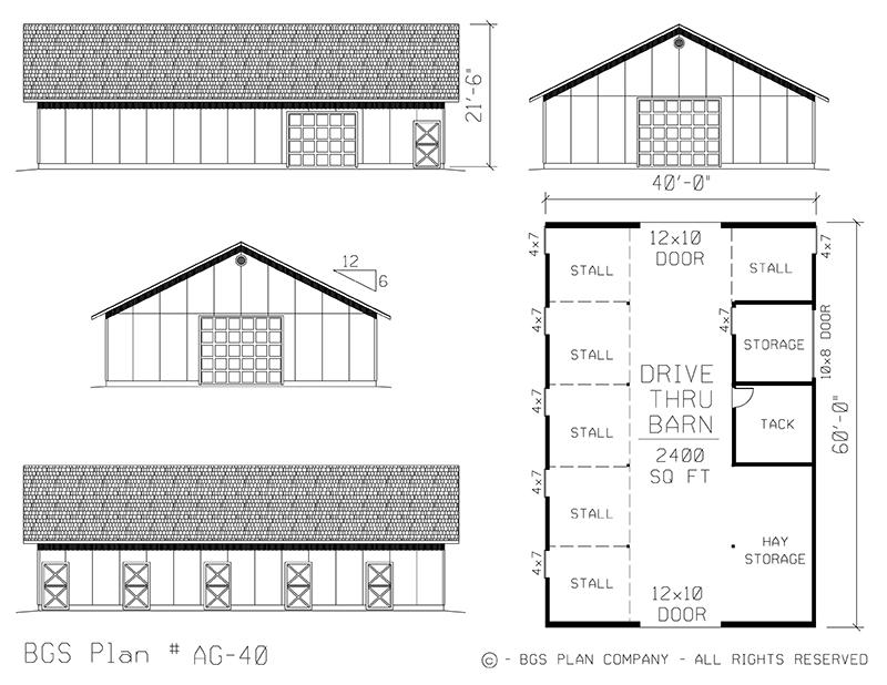 Plan # AG-40 Floor Plan