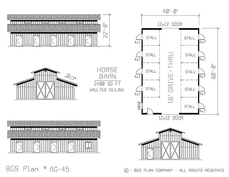 Plan # AG-45 Floor Plan