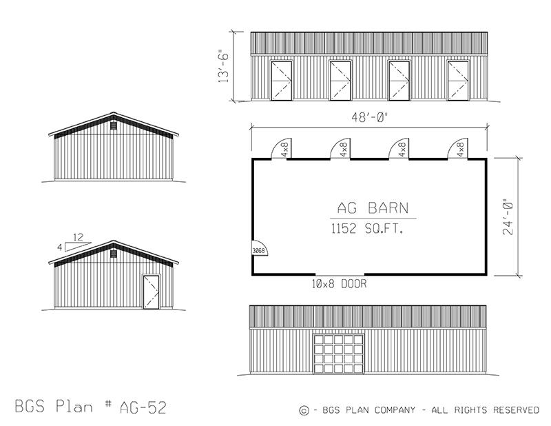 Plan # AG-52 Floor Plan