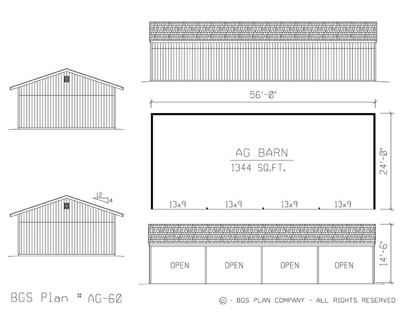 Agricultural Barn | BGS Plan AG-60
